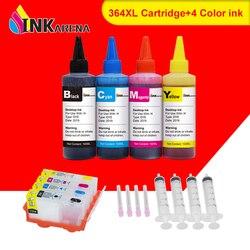 Wymiana INKARENA 364XL tusz do drukarki wkłady do drukarek hp Photosmart estation C510a C510c Deskjet 3070A 3520 3522 3524 Officejet 4620