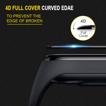 BAPICK 4D Protective Glass For Xiaomi Mi Band 4 Film Glass Scratch-Resistant Screen Protector For Mi Band 4 Protector Miband 4 1