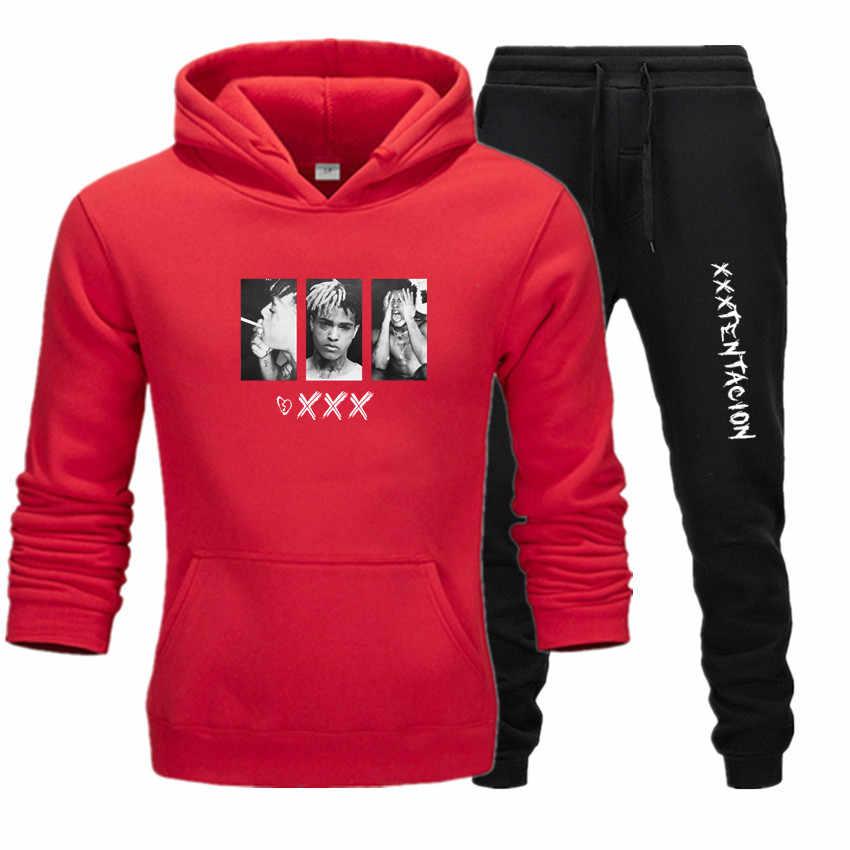 Męskie dres 2 zestawów nowych modna kurtka odzież sportowa męska spodnie dresowe bluzy z kapturem wiosna i jesień męska marki bluzy z kapturem spodnie