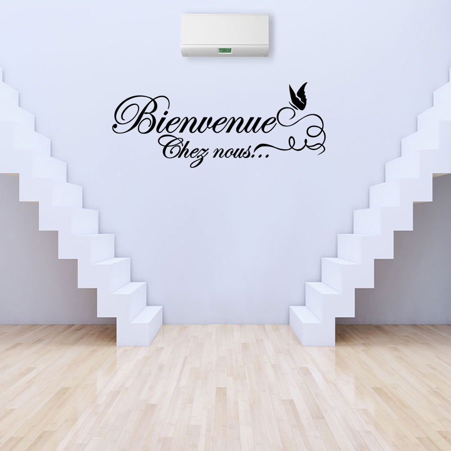 Removable Vinyl Wall Stickers Mural Decoration French Autocollant - Stickers Salon Citation