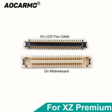 Aocarmo كابل مرن للوحة الأم Sony Xperia XZ Premium XZP G8142 G8141 ، موصل FPC ، موصل مشبك