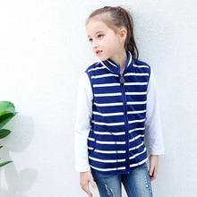Striped Polar Fleece Child Waistcoat Casual Baby Girls Boys Vests Children Outerwear Kids Outfits For 75-125cm цены