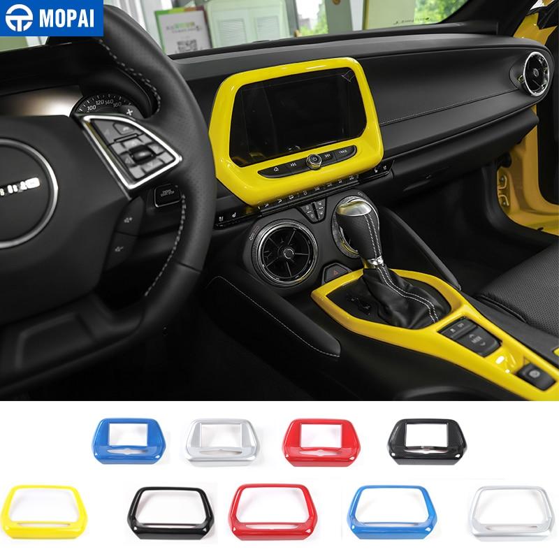 Red Interior Center Console navigation Panel Trim for Chevrolet Camaro 2016-2018