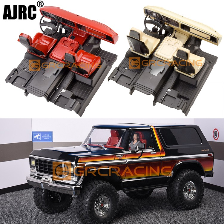 for 1/10 RC car TRAXXAS TRX-4 BRONCO interior TRX4 simulation central control seat modification part G161R