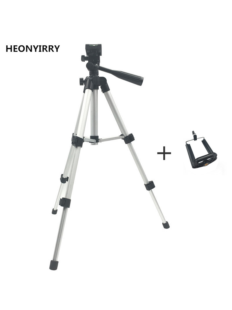 Fluid Head Tripod-Holder Screw Stand Camera Professional Foldable Aluminum with 360-Degree