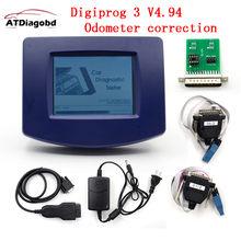 Акция Digiprog III V4.94 Digiprog 3 со всеми адаптерами Digiprog3 Пробег Digi prog Инструмент для коррекции одометра DHL Бесплатная доставка