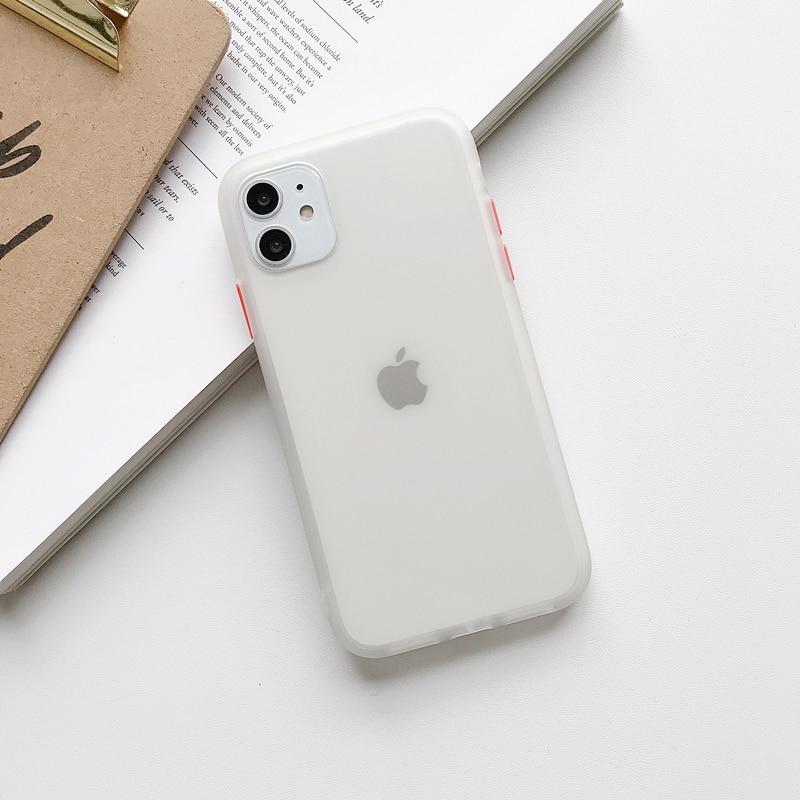 Прозрачный противоударный чехол для телефона для iPhone 11 Pro X XR XS Max 6 6s 7 8 Plus, чехол-бампер, силиконовая матовая прозрачная задняя крышка - Цвет: G