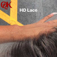 QueenKing Hair 13x4 Ear to Ear Super HD Lace Brazilian Straight Hair Lace Frontals Swiss Lace Remy Hair