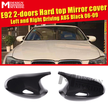 1 Pair ABS Black Rearview mirror Cover Fits For BMW E92 2-door Hard Top 3-Series 320i 325i 325i 330i 335i Rear Mirror Case 06-09 e90 carbon fiber rear view mirror cover side mirror caps 1 1 replacement fits for bmw 3 series 320i 323i 325i 328i 330i 2005 07