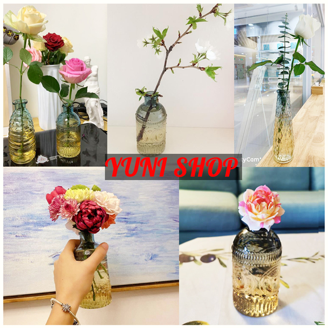 decorative nordic decoration home decor vases interior vase glass scandinavian Flower Arranging Green Plants Hydroponic Device 5