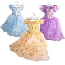 Летние платья принцессы элегантная одежда для маленьких девочек