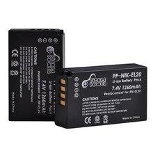 Batteries pour Nikon Coolpix P1000, 2 pièces, EN-EL20 EN EL20 EN EL20a, Nikon J1 J2 J3 Nikon1 AW1