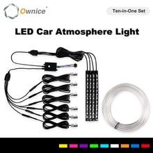 شريط إضاءة LED داخلي للسيارة ، شريط إضاءة RGB مع التحكم في التطبيق فقط لـ Ownice K7 Series ، راديو السيارة ، مشغل الوسائط المتعددة