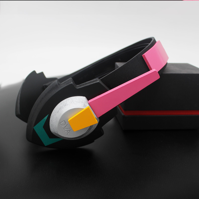 Overwatch D.Va Gun Headphone for Cosplay Weapon Hana Song D VA Prop Pistol Headset Accessories for Halloween Christmas Gift DVA 2