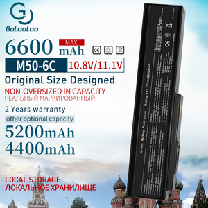 Image 1 - Golooloo 6600mAh New Battery for ASUS A32 M50 A33 M50 M50 N53S N53SV N53T N61 N53TA N61J N61D N61VG N43 N61JQ M50S n32 n61 N53J