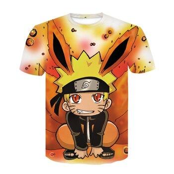 2020 Summer New Japan Anime Kakashi 3D T Shirt Male O-Neck Cartoon Tee Tops Men/Women Cool Harajuku Clothes