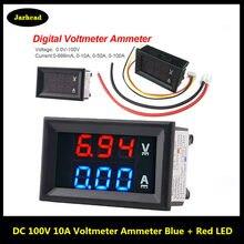 Mini voltímetro amperímetro digital, voltímetro e amperímetro digital dc 100v 10a, painel, voltímetro e medidor de corrente, detector e testador, 0.56
