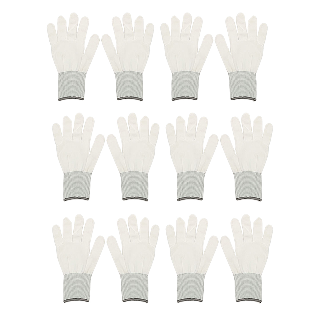 6 Pairs Cotton Wrapping Gloves Dedicate Tool For Car Vinyl Sticker Window Film