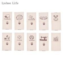 Lychee Life 50 шт./лот тканевые этикетки для одежды ручной работы с овечьими животными этикетки для рукоделия бирки для шитья