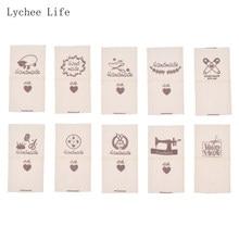 Lychee Life 50 unidades/lote de etiquetas hechas a mano para ropa de animales de oveja, etiquetas hechas a mano para manualidades de costura, hágalo usted mismo