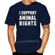I SUPPORT ANIMAL RIGHTS WOMENS/MENS T SHIRT CRUELTY ACTIVIST PETA VEGETARIAN VEGAN Fashion T-Shirts Summer Straight 100% Cotton