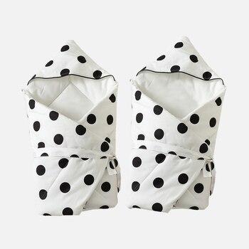 All Cotton Baby Swaddling Blankets Newborns Swaddle Autumn Winter Baby Bedding Blankets Baby Envelope Wrap 90*90cm Crib Quilt