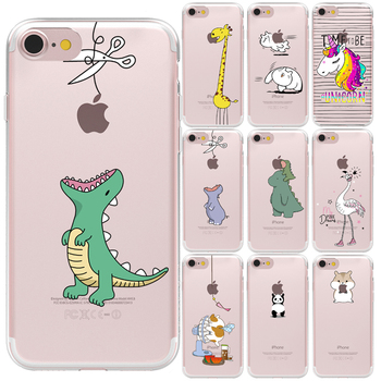 Śliczne zwierzęta dinozaur silikonowa tylna pokrywa dla iPhone 11 12 Pro XS Max X XR 7 8 Plus 6S 5S SE 12Mini miękka TPU Capa etui na telefony tanie i dobre opinie CN (pochodzenie) Pół-owinięte Przypadku Cute Animals Pattern Apple iphone ów Iphone 5 Iphone 6 IPHONE 6S Iphone 5S