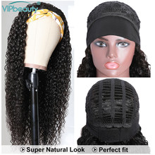Water Wave Wig Brazilian Headband Wig Human Hair Scarf Wig 180% Water Wave Human Hair Headband Wig Easy to Install VIP Remy Hair(China)