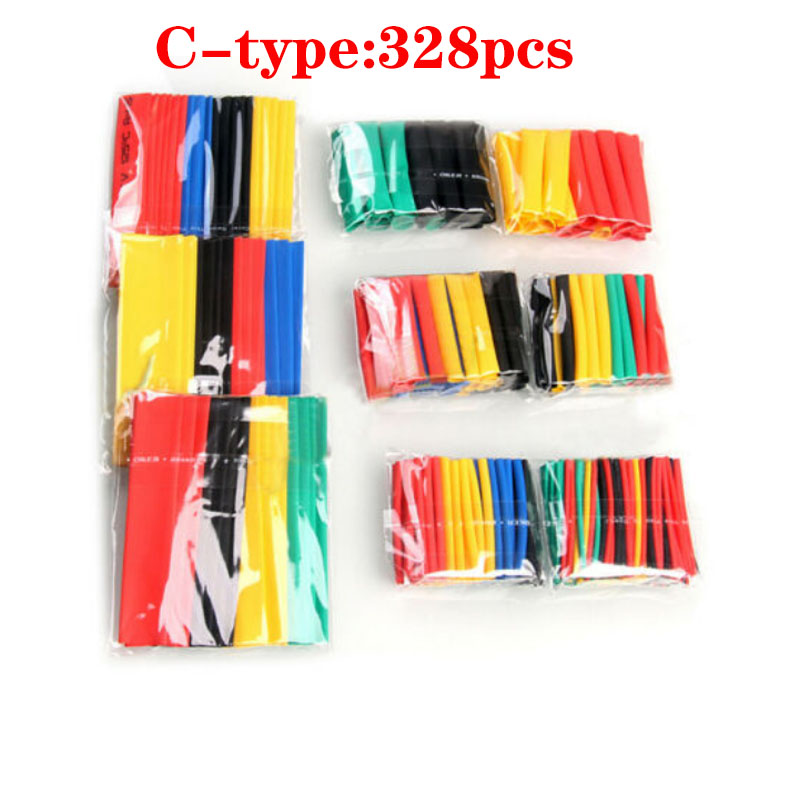 electric cable wire Heat Shrink Tube connectors tubing Kit Sleeving Shrink plastic Shrinking Sleeve Multiple Tubing Insulated