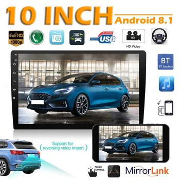 2 DIN Car Radio Autoradio Android 8.1 Car Stereo 10 inch 2.5D Curved Screen GPS Navigation WiFi Bluetooth FM Radio Receiver