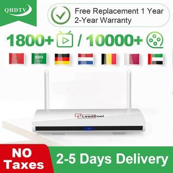 Leadcool QHDTV IPTV Germany Nederland Arabic Android 8.1 TV Box 1G 8G/2G 16G IPTV Arabic Belgium IPTV Algeria No APP Include qhdtv ip tv arabic netherlands france iptv box hk1 mini android 9 0 4g 128g bt dual band wifi iptv france arabic belgium qhdtv