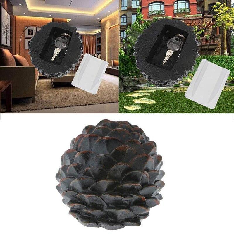 Hidden Key Safe Box Pine Cone Outdoor Hide Keys Camouflage Storage Garden Decoration Secret Spare Key Safe House Security 9*10Cm