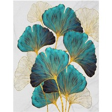 5D DIY Diamond Painting Full Round Diamond Ginkgo Leaf Diamond Embroidery Mosaic Home Decoration Gift