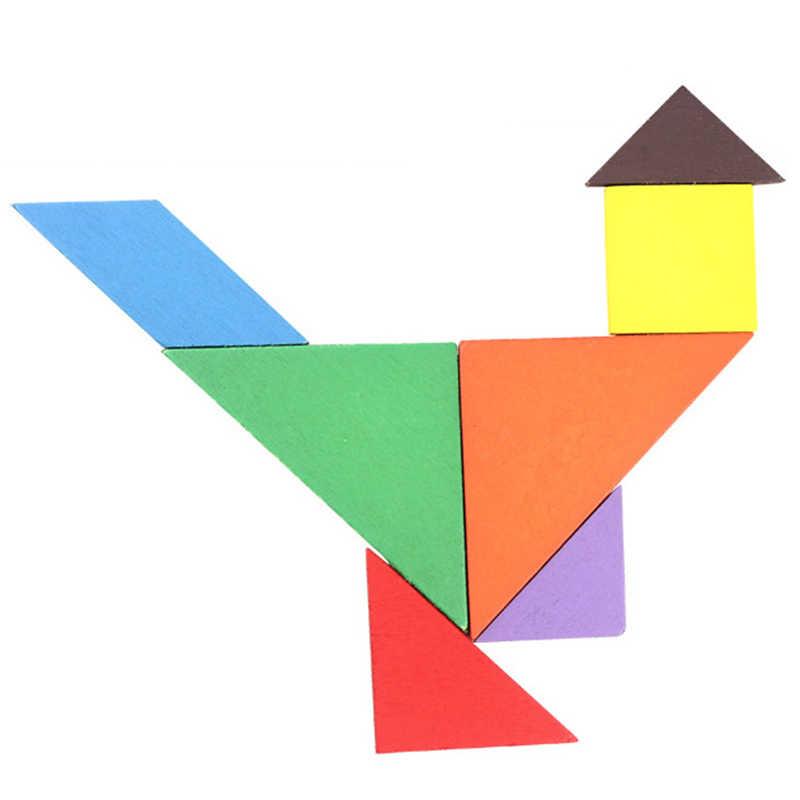 الألعاب التعليمية 3D الاطفال لعبة الخشب لغز خشبية أحجية الصور المقطوعة للأطفال الطفل الكرتون الحيوان المرور الألغاز