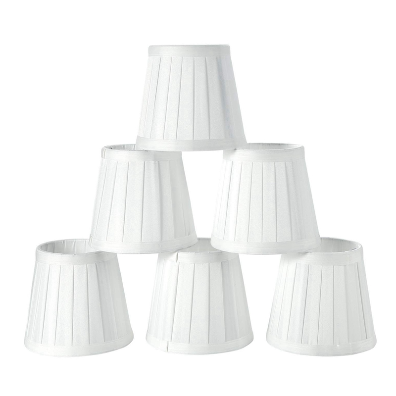 HOT Modern European Style Droplight Wall Lamp Candle Chandelier Lamp Shade 6 Pcs Set (Solid White)|Lamp Covers & Shades| |  - title=