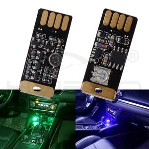 Image 2 - Lampe décorative pour voitures, éclairage de lecture à intensité variable, éclairage décoratif à Led, ampoule durgence, jeu de la voix RGB, coffre