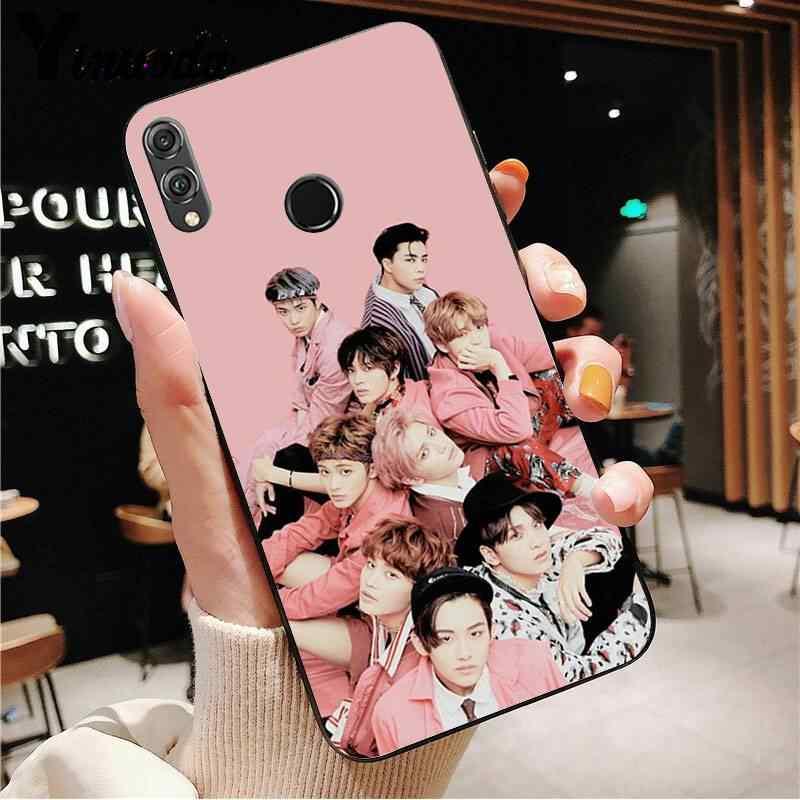 غطاء هاتف من السيليكون الناعم Yinuoda KPOP K.A.R.D MONSTA X NCT 127 من Yinuoda لهاتف Huawei view 20 HONOR 5A 10I 20IPLAY 8C 9X PRO Y9 2018