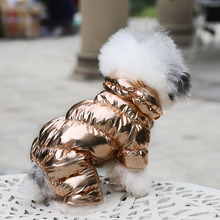 цены 2019 Luxury Pet Winter Dog Clothes Jumpsuit Warm Dog Coat Chihuahua Puppy Clothes Outfit Dog Warm Jumpsuit Dog Winter Clothing