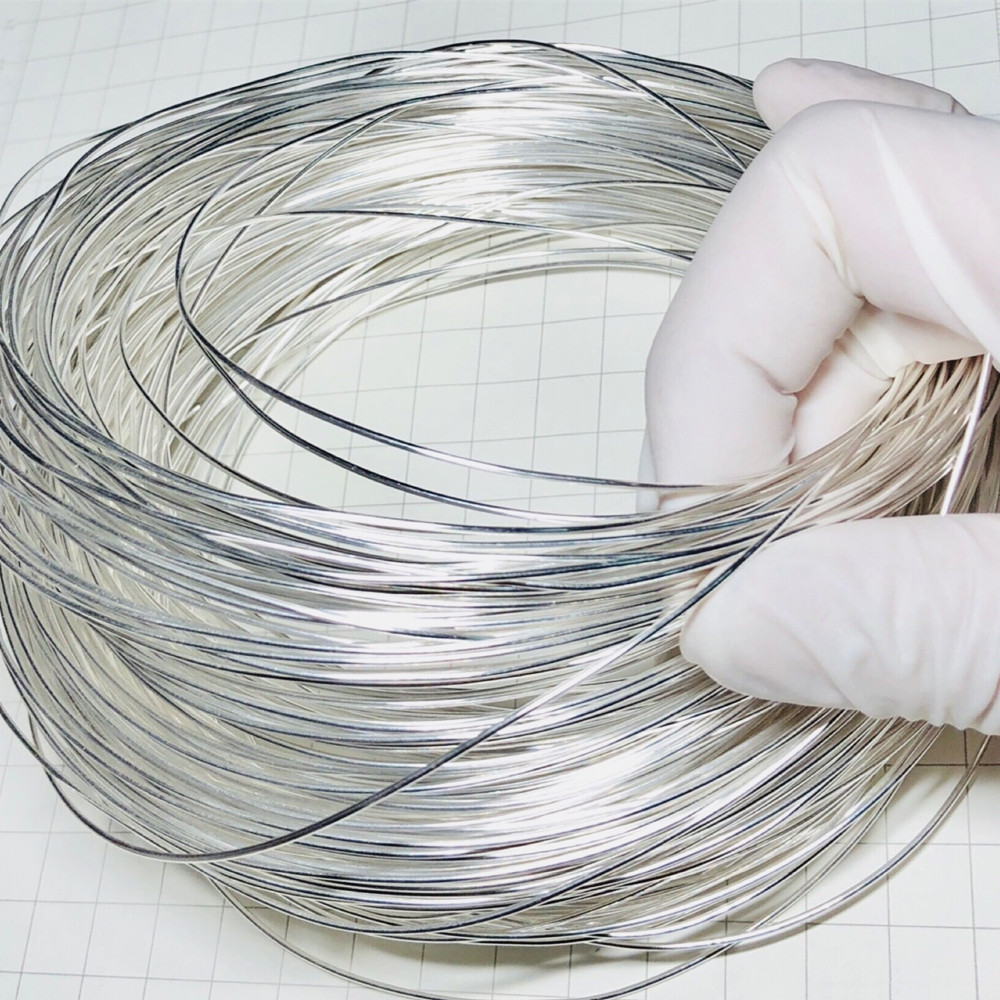 1 Meter Silver Wire 99.95% Pure Diameter 0.5mm <font><b>1mm</b></font> Ag <font><b>Cable</b></font> String 0-0.02mm Tolerance 1000mm image