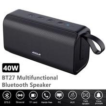 Alto-falante portátil Bluetooth 40W Big Power TWS Coluna de baixo sem fio 3D estéreo para PC Computador alto-falantes Subwoofer à prova d'água Centro de música Boombox Home Theater Soundbar Rádio FM TF USB