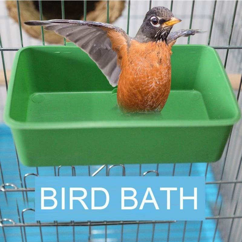 Parrot Bathtub With Mirror Pet Cage Bird Mirror Bath Shower Box Bird Cage Pet Small Bird Parrot Cage Bird Toys Accessories Y