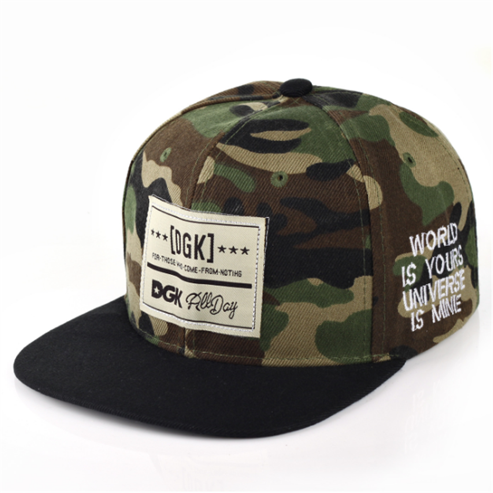New Men And Women Camouflage Letters Solid Color Patch Baseball Cap Hip-hop Hat Leather Sun Hat Rebound Cap