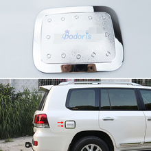 2008-2018 Fuel Tank Cap Gas Box Cover Oil Trim Panel Overlay Chrome Car Styling For Toyota LC Land Cruiser 200 Accessories