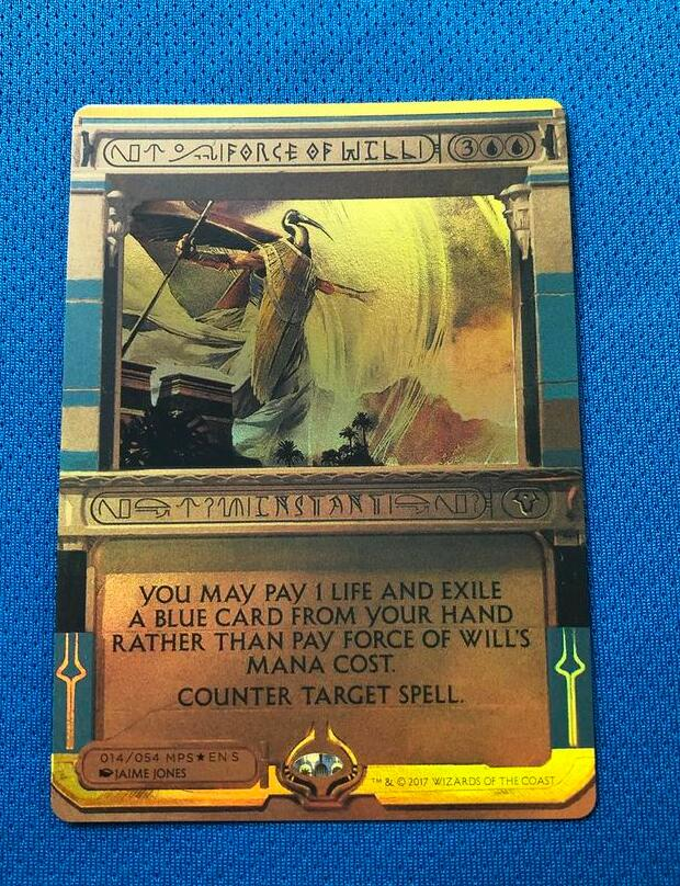Force Of Will Amonkhet Invocations (MP2) Golden Holofoil Magician ProxyKing 8.0 VIP The Proxy Cards To Gathering Single Mg Card.