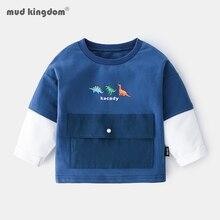 Boys Sweatshirts Clothing Dinosaur Long-Sleeve Big-Pocket Kids Fashion Cartoon Casual