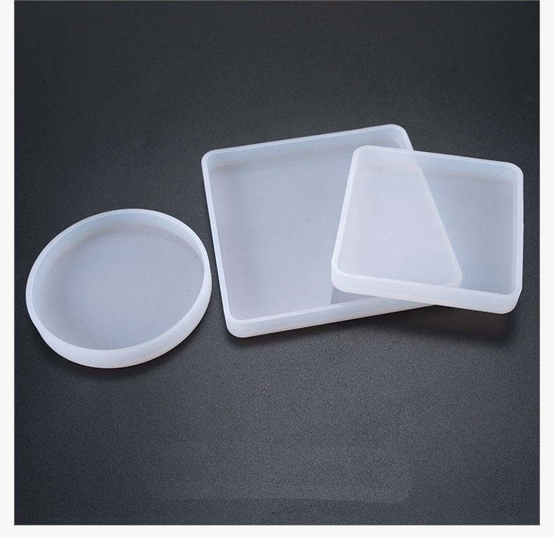 Popular1PC Square/round Base Tray Silicone Jewelry Expoxy Resin Jewelry Molds Hand Craft Jewelry Accessories