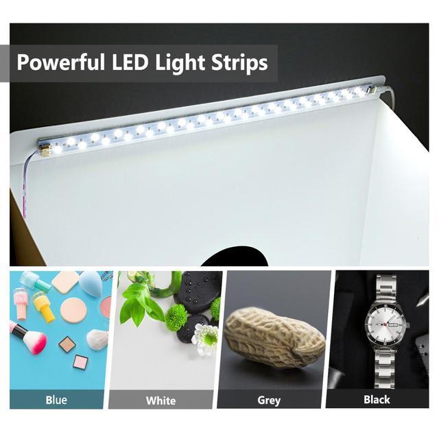 Neewer 16 pouces photographie boîte à lumière de Table LED Portable Photo Studio tente de tir (3 Modes de lumière/10 étapes luminosité réglable