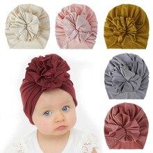 2021 novo chapéu do bebê bonito da flor chapéu da menina do bebê algodão macio do bebê turbante gorro bebê recém-nascido infantil gorro