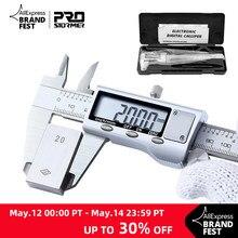 0-150mm vernier caliper de aço inoxidável/plástico lcd digital caliper ferramentas de medição de profundidade de instrumento de 6 polegadas por prostormer