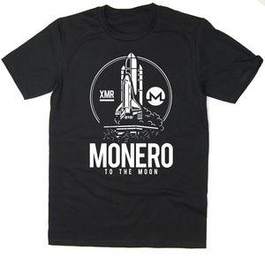 Monero To The Moon T-Shirt - BTC XMR - Bitcoin Crypto - 6 colours(China)